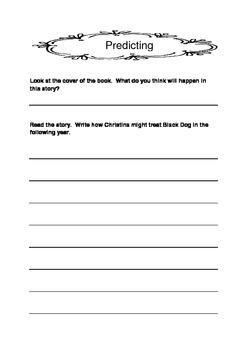 Black Dog Literacy Unit Pamela Allen Literacy Circle Activities