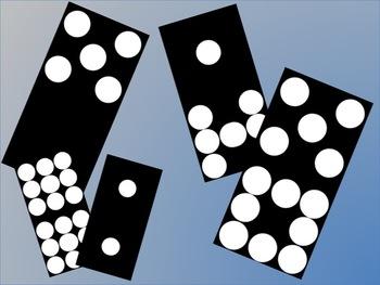 Black Dominoes No Line Double Nine Clip Art Set