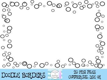 Black Doodle Borders