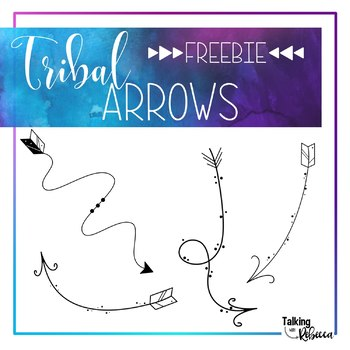 Black Doodle Tribal Arrows Freebie