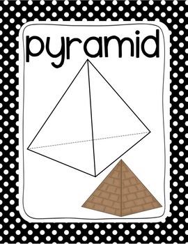 Black Dot Plane & Solid Shapes Poster Set (Math Geometry)