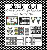 Black Dot EDITABLE Classroom Organization and Decor Pack
