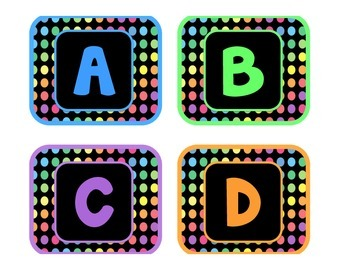 Black Dots: Alphabet Labels