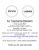 Black Dots Circle Labels