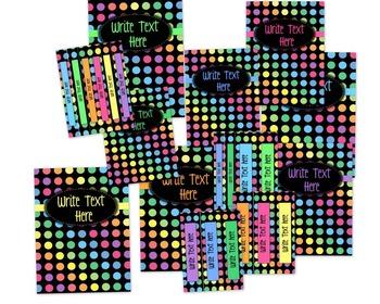 Black Dots: Classroom Decor Bundle