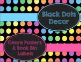 Black Dots Decor: Genre Posters & Book Bin Labels