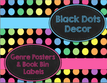 Black Dots Decor: Genre Posters & Book Bin Labels