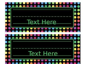 Black Dots: Editable Nameplates