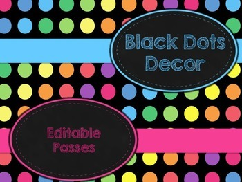Black Dots: Editable Passes