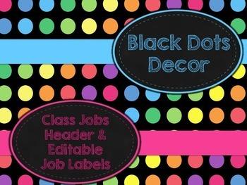 Black Dots: Class Jobs Header and Editable Job Labels