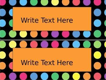 Black Dots: Editable Large Labels