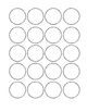 Black Dots Large and Small Circle Labels COMBO SET