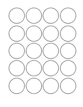 Black Dots Small Circle Labels