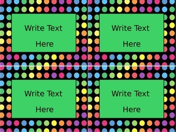 Black Dots: Editable Small Labels