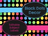 Black Dots: Editable Subject Labels