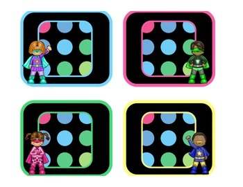 Black Dots Superheroes: Alphabet Labels