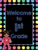 Black Dots Superheroes: Welcome to ___ Grade (Blue)