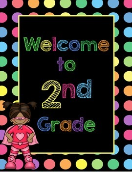 Black Dots Superheroes: Welcome to ___ Grade Poster (Multi-Colored)