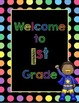 Black Dots Superheroes: Welcome to ___ Grade Poster (Multi