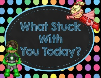 Black Dots Superheroes: What Stuck With You Today? Poster Kit
