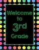 Black Dots: Welcome to ____ Grade (Green)