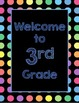 Black Dots: Welcome to ____ Grade Poster (Blue)