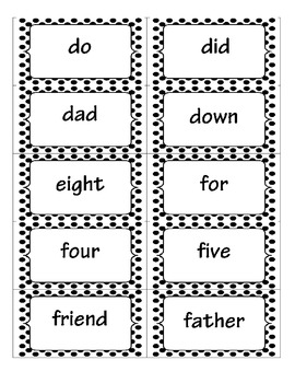 Black Dots Word Wall Set
