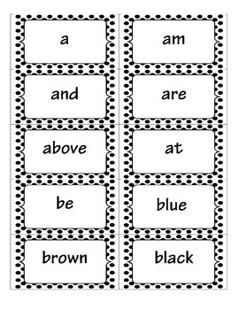 Black Dots with Monsters Word Wall Set