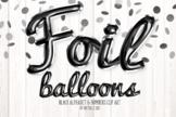 Black Foil Balloon Script Alphabet