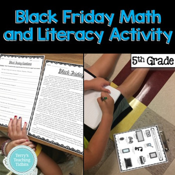 Black Friday Math and Literacy Activity {5th and 6th Grade}