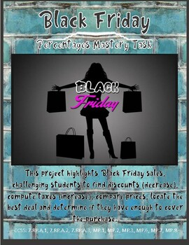Project Based Learning with Math - Black Friday Mastery Task