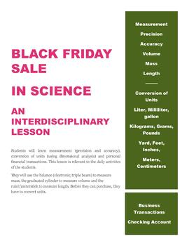 Black Friday Sale in Science: An Interdisciplinary Lesson