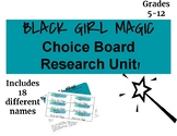 Black Girl Magic Choice Board Research Unit