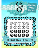 Black Glitter Button Numbers 0 - 9