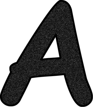 Black Glitter Characters * Alphabet * Numbers * Symbols * Punctuation
