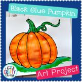 Black Glue Pumpkin Art Project Template / Fall Craft