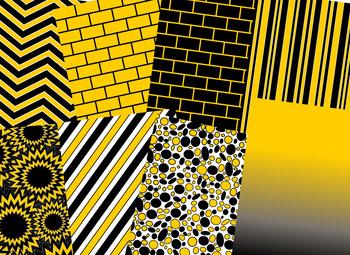Black & Gold Digital Papers (Missouri & Vanderbilt Team Colors)