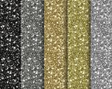 Black Gold Glitter Digital Papers Set #114