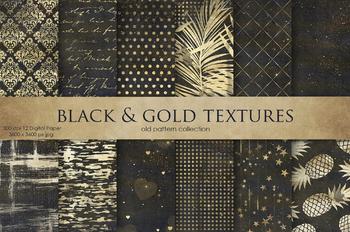 Black & Gold Textures