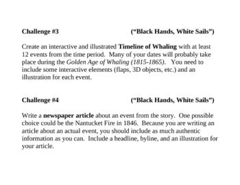 Black Hands, White Sails, by P. McKissack, Project Challenges