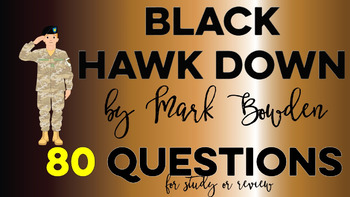 Black Hawk Down Reading Questions
