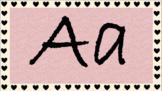Black Heart Alphabet
