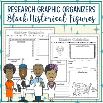 Black Historical Figures Biography Research Graphic Organizers