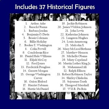 Black Historical Figures Biography Trifold Brochures