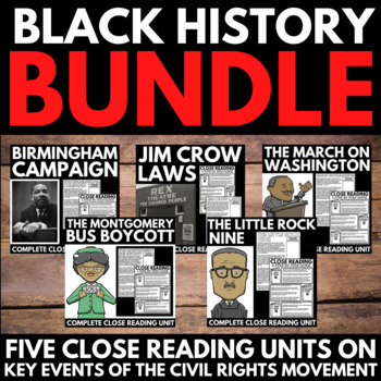 Black History Month Unit Project -Information and Research Poster Project Bundle