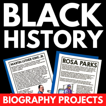 Black History Biography Project - Civil Rights Movement Unit Resources