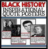 Black History Month Unit Quote Posters - Civil Rights Movement Unit Resources