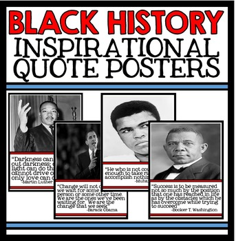 Black History Month Unit Quote Posters - Civil Rights Move