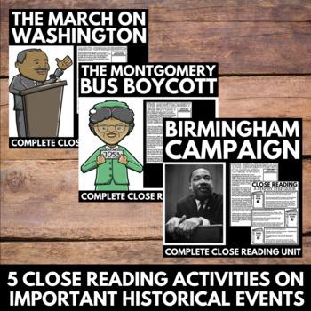 Black History Month Unit Bundle - Civil Rights Movement Unit Resources