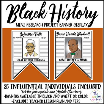 Black History Month Research Activity